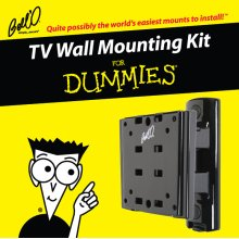 Tilt/Pan mount for most small to medium size TVs including 8190DB Adapter Plates, For Dummies installation guide, and For Dummies step-by-step DVD video
