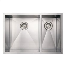 Noah's Collection Commercial Series double bowl undermount sink.