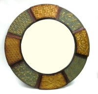 Metal Mirror- Multi Color Patches- 36.25 Product Image