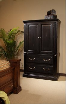 Armoire - Antique Black Finish