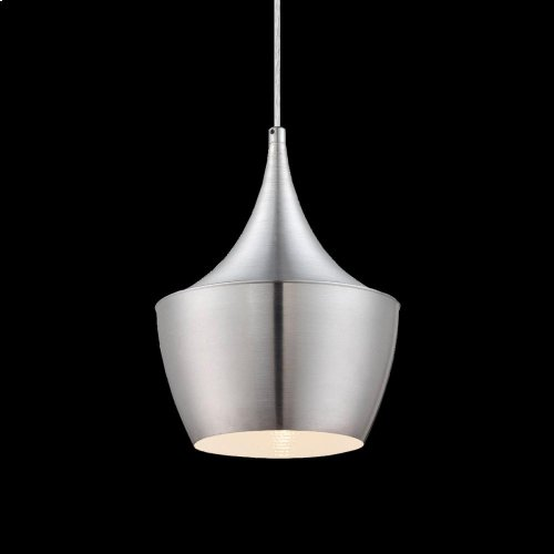 1-LIGHT PENDANT - Brushed Aluminum