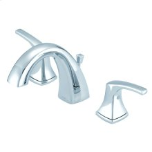 Chrome Vaughn Two Handle Widespread Faucet