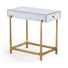 glomise & Gilded Iron Box Top Side Table