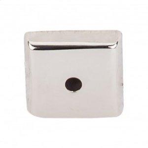 Aspen II Square Backplate 7/8 Inch - Polished Nickel