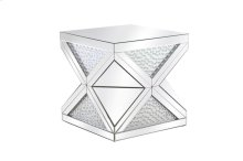 23 inch Crystal End Table Clear Royal Cut Crystal