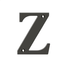 "4"" Residential Letter Z - Oil-rubbed Bronze"