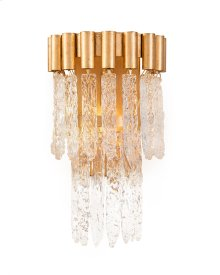 Crystal Icicle One-Light Wall Coupe