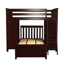 All in One Loft Bed Storage Study   Twin Bed Espresso