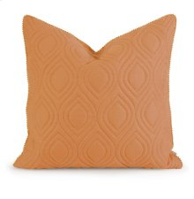 IK Kavita Orange Linen Quilted Pillow w/ Down Fill