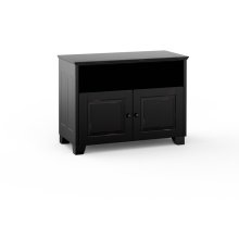 Hampton 329, Twin-Width Corner Cabinet, Distress Black
