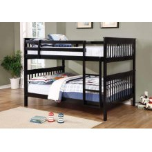 Chapman Traditional Black Full-over-full Bunk Bed