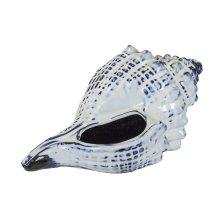 Blue Ceramic Seashell, Whelk