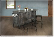 Kitchen Island w/3 Drawer, 5 Doors, 3 Shalves & casters Product Image