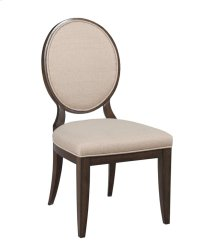 Uph Side Chair w/Decorative Back -KD