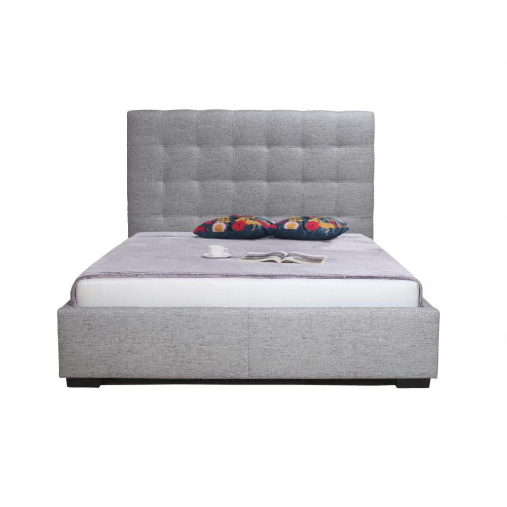 Belle Storage Bed California King Light Grey