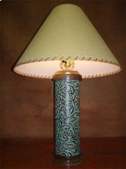Turquoise Leather Lamp Product Image