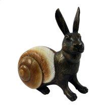 Rabbit Sculpture - Bronze & Seashell