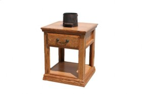 A-T248 Traditional Alder 1-Drawer End Table
