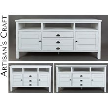 "Artisan's Craft 50"" Media Console - Weathered White"