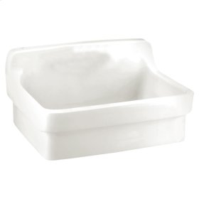 All Purpose Wall Mounted Sink - White