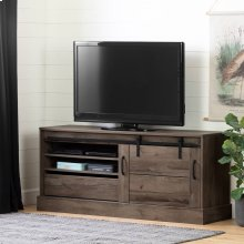 "TV Stand for TVs up to 75"" with Sliding Door - Fall Oak"