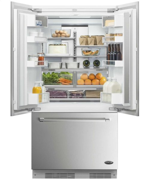 """DCS Activesmart Refrigerator 36"""" Integrated French Door With Ice - 72"""" Tall"""