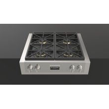 "30"" Pro Gas Range Top - stainless Steel"