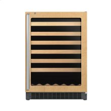 """24"""" Custom Panel Wine Cellar - DFUW (Right Hinge Clear Door)"""