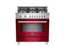 36 6-Burner, Electric Self-Clean Oven Burgundy