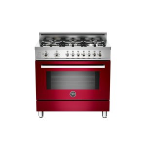 36 6-Burner, Electric Self-Clean Oven Burgundy - Burgundy