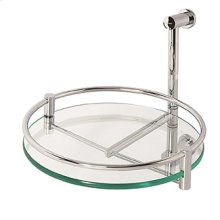 Essentials One Tier Wall Mounted Glass Swivel Shelf Unit