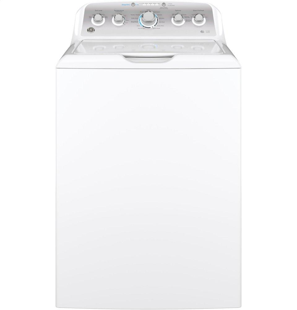 GE(R) 4.6 DOE cu. ft. Capacity Washer with Stainless Steel Basket