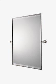 "Crystal Metal Rectangular Wall Mounted Tilting Mirror 25 7/16"" x 29 15/16"" x 2 3/4"" STYLE: CRMR48"