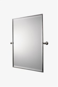 "Crystal Metal Rectangular Wall Mounted Tilting Mirror 25 7/16"" x 29 15/16"" x 2 3/4"" STYLE: CRMR48"