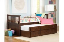 Twin/Twin Trundle Bed with Three Storage Drawers