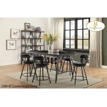 """24"""" Counter-height Stool Black"""