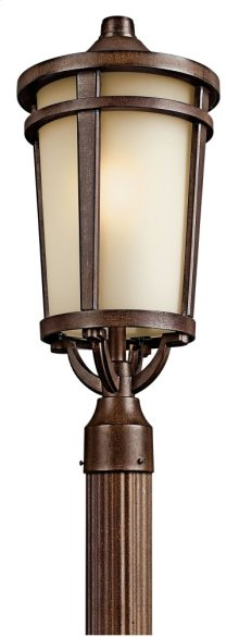 Atwood 1 Light Post Light Brownstone