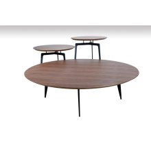 Modrest Jetson Modern Walnut Coffee Table Set