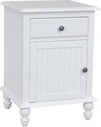 1-Door/1-Drawer Nightstand Beach White Product Image
