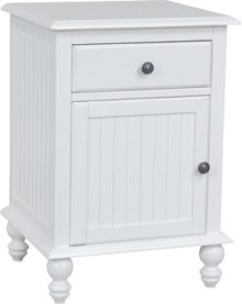 1-Door/1-Drawer Nightstand Beach White
