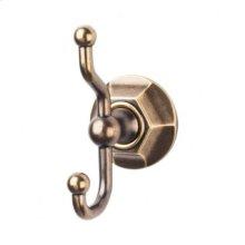 Edwardian Bath Double Hook Hex Backplate - German Bronze