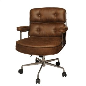 Fred Fabric Office Chair, Nubuck Brown