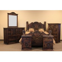 Mansion Dresser W/Rope and Star Medio Finish