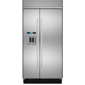 Jenn-Air® 42-Inch Built-In Side-by-Side Refrigerator with Water Dispenser, Euro-Style Stainless Handle