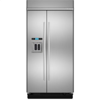 Jenn-Air(R) 42-Inch Built-In Side-by-Side Refrigerator with Water Dispenser, Euro-Style Stainless