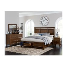 Queen Platform Bed with Footboard Storage