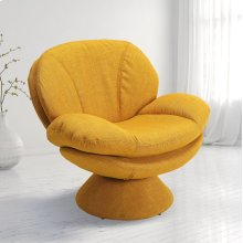 Rio Straw (Yellow) Fabric -360 Degree Swivel -Wing Arms -Padded Seat -All Steel Construction -Quality Fabric Cover