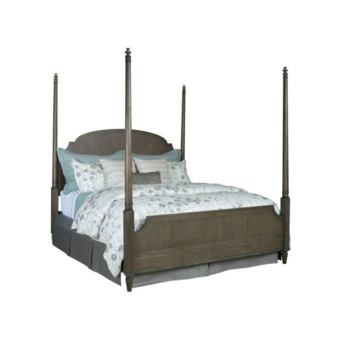 King Sofia Poster Bed 6/6 Complete