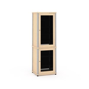 Salamander DesignsSynergy Solution 703, Quad-Width AV Cabinet, Maple with Black Posts