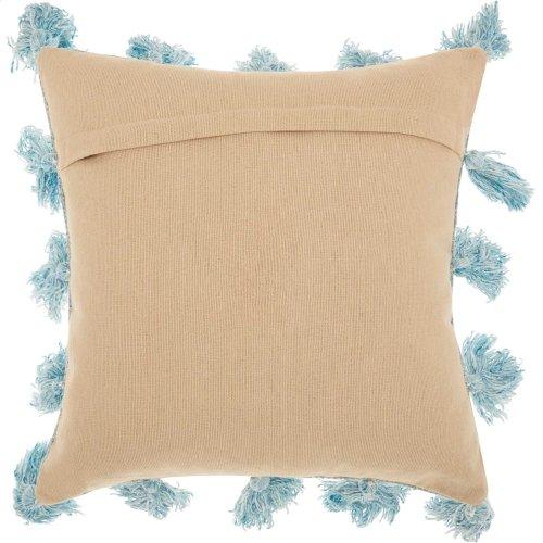 "Life Styles Dp005 Blue 18"" X 18"" Throw Pillows"